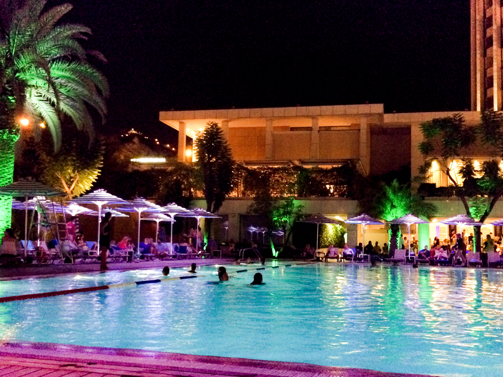 Hilton pool party by The Athenian Girl