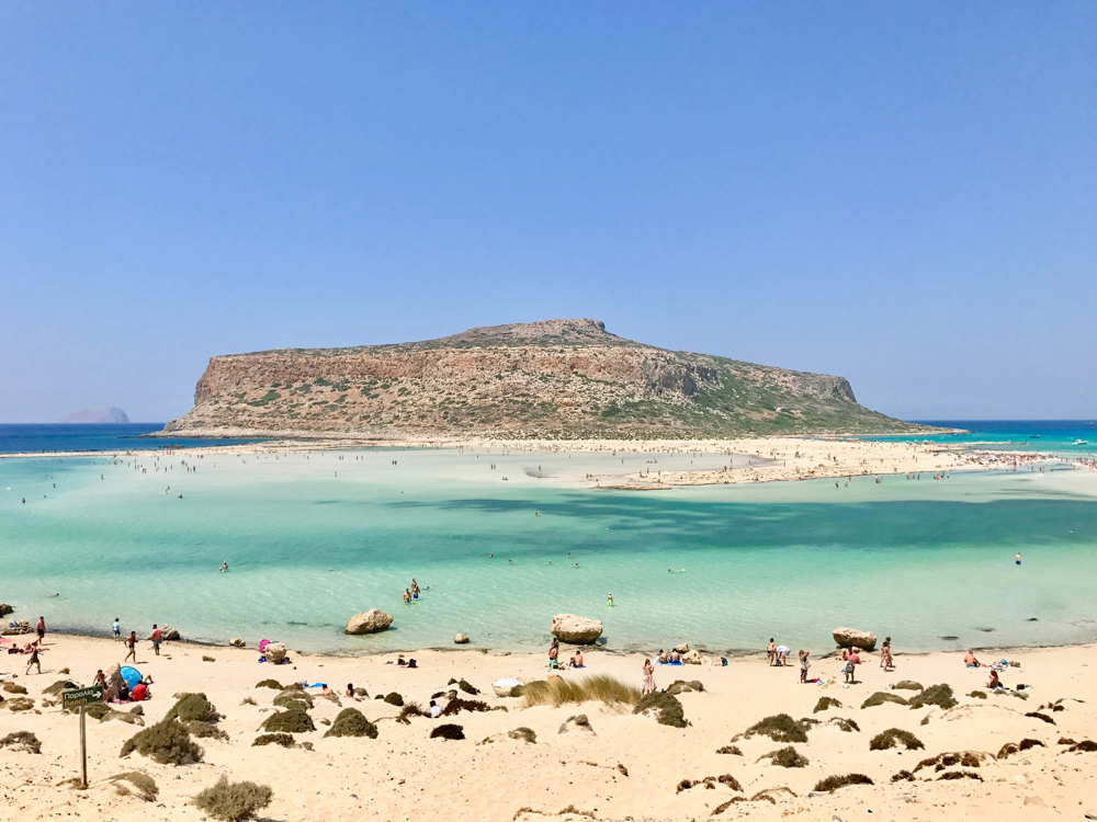 Balos lagoon beach and Gramvousa
